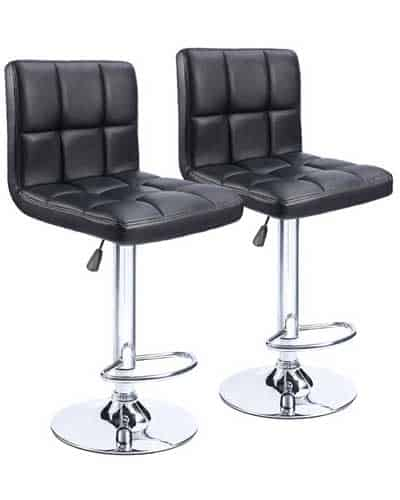Homall-Swivel-Black-Bonded-Leather-Bar-Stool