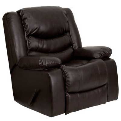 Flash-Furniture-Plush-Brown-Leather-Recliner