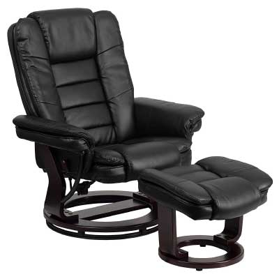 Flash-Furniture-Wood-Base-Black-Leather-Recliner
