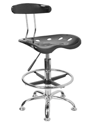 Flash Furniture Chrome Drafting Stool