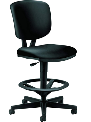 HON Leather Office Stool