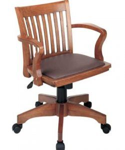 Office star deluxe wood bankers desk chair
